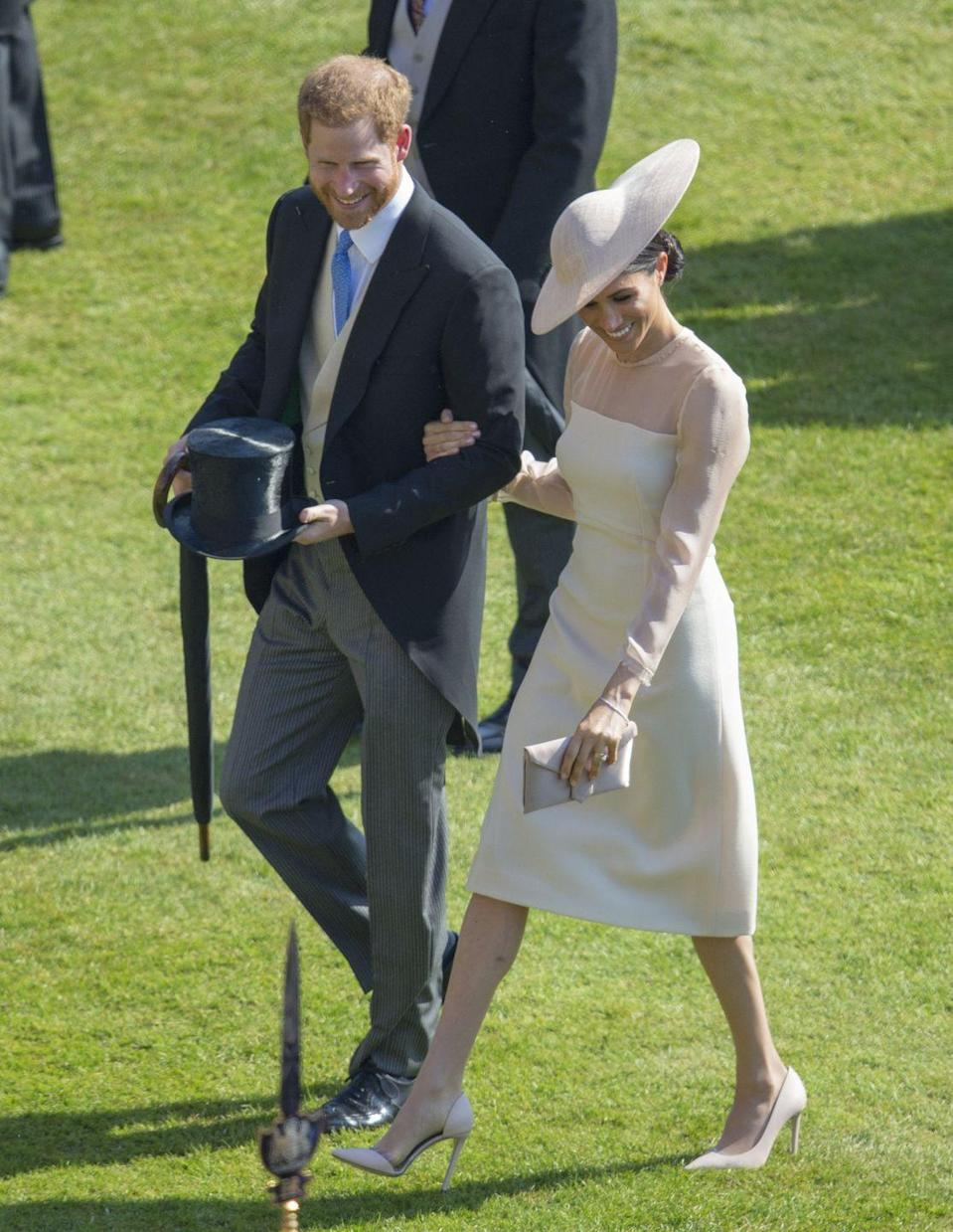 <p>Days after their royal wedding in May 2018, the couple were beaming with happiness as they attended Prince Charles' birthday party. We imagine they were enjoying marital bliss! </p>