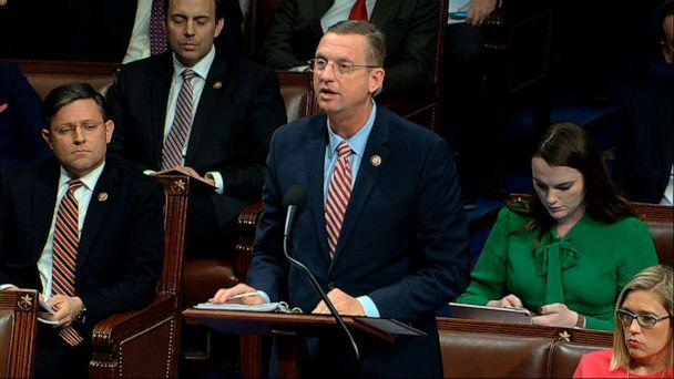 PHOTO: House Judiciary Committee ranking member Rep. Doug Collins speaks as the House of Representatives debates the articles of impeachment against President Donald Trump at the Capitol in Washington, Dec. 18, 2019. (House Television via AP)