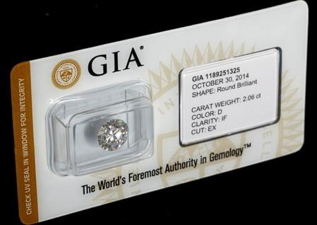 A high-quality diamond is seen in a jewellery shop in Milan