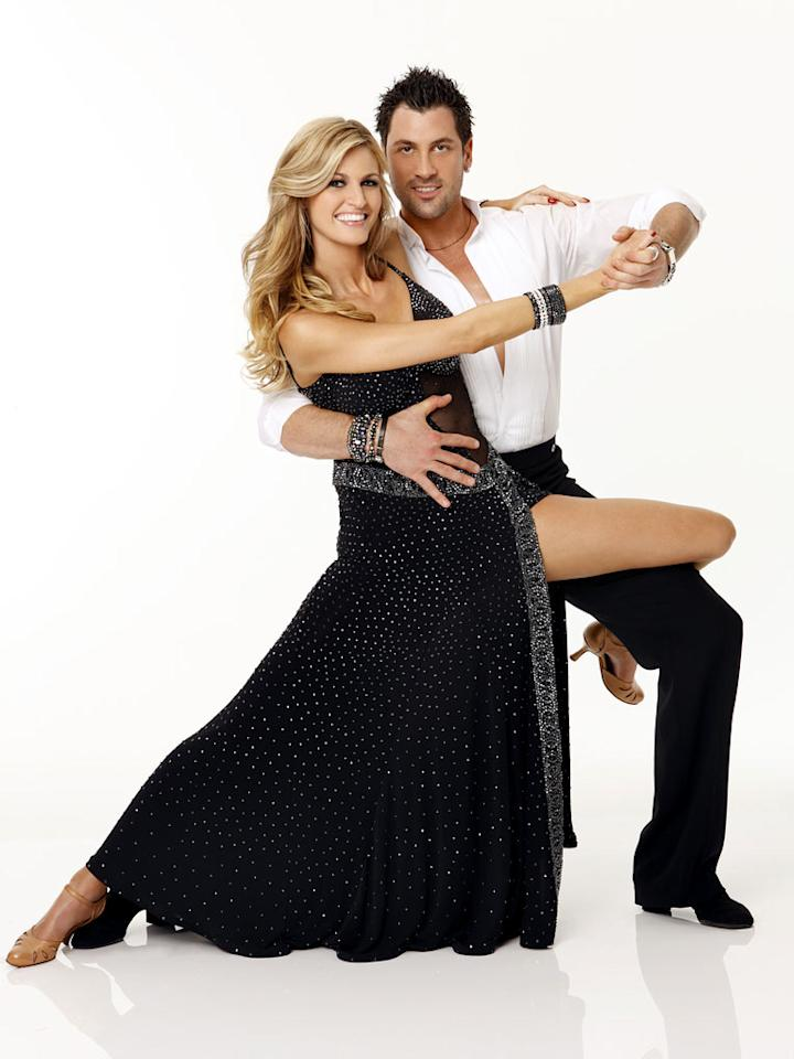 Since joining ESPN in 2004, Erin Andrews has become one of the most well-known sports reporters in the country. She teams with Maksim Chmerkovsiy, who returns for his eighth season.