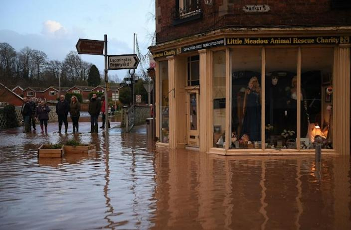 Five 'severe' flood warnings remain in place around the River Teme in Worcestershire in western England (AFP Photo/Oli SCARFF )