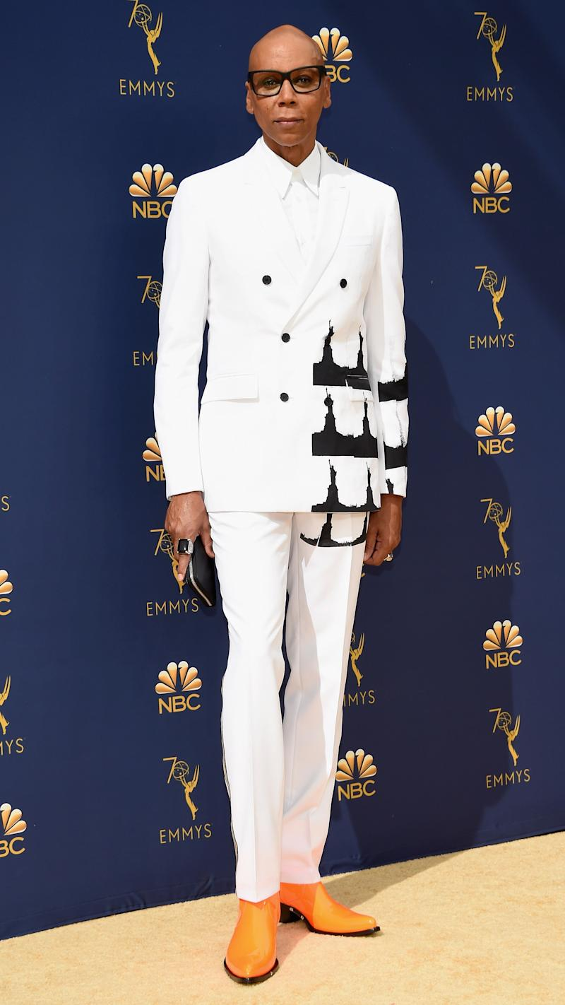 LOS ANGELES, CA - SEPTEMBER 17: RuPaul attends the 70th Emmy Awards at Microsoft Theater on September 17, 2018 in Los Angeles, California.