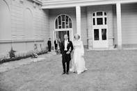 <p>Prince Michael of Kent (Queen Elizabeth's cousin) marries Baroness Christine von Reibnitz in the Town Hall in Vienna. Here, they pose for pictures outside the British Embassy. Also this year, Princess Margaret divorces Tony Armstrong-Jones.</p>