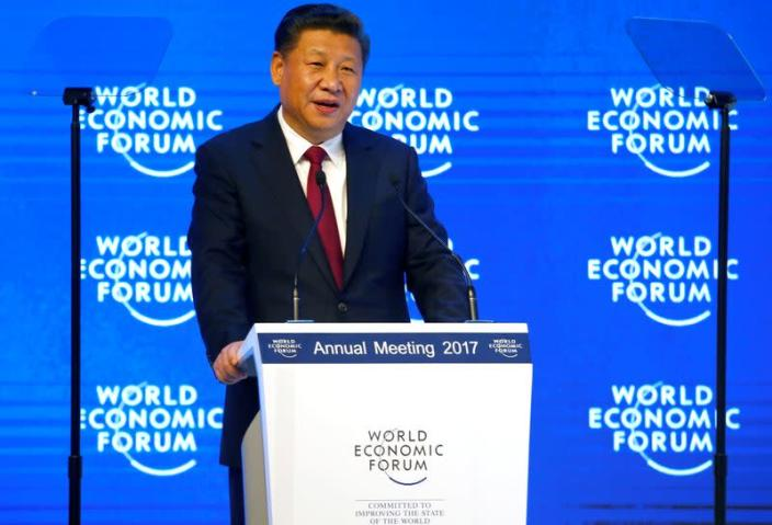 FILE PHOTO: Chinese President Xi attends the WEF annual meeting in Davos