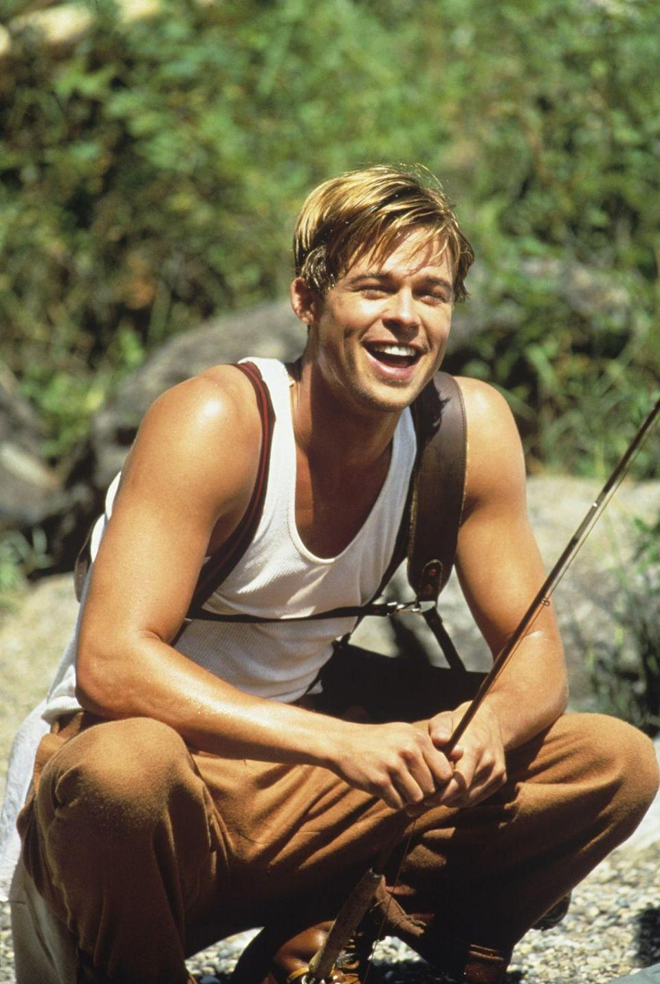 <p>Here, the boy is evolving into a man. The blonde hair has been chopped into something resembling a more uniform cut, but the face and demeanor maintain their youth. Fun fact: This is also the year that Brad Pitt hooked up with Geena Davis in a hotel before stealing her money!</p>