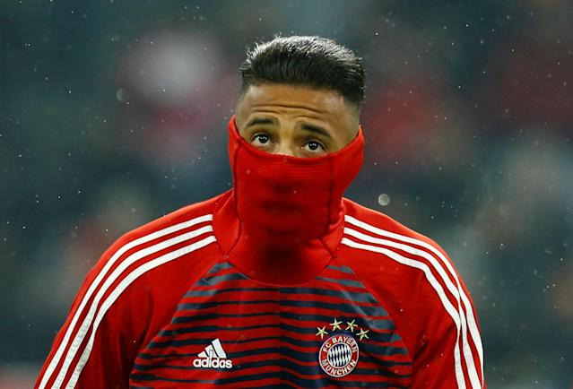 Soccer Football - Champions League Round of 16 First Leg - Bayern Munich vs Besiktas - Allianz Arena, Munich, Germany - February 20, 2018 Bayern Munich's Corentin Tolisso warms up before the match REUTERS/Ralph Orlowski