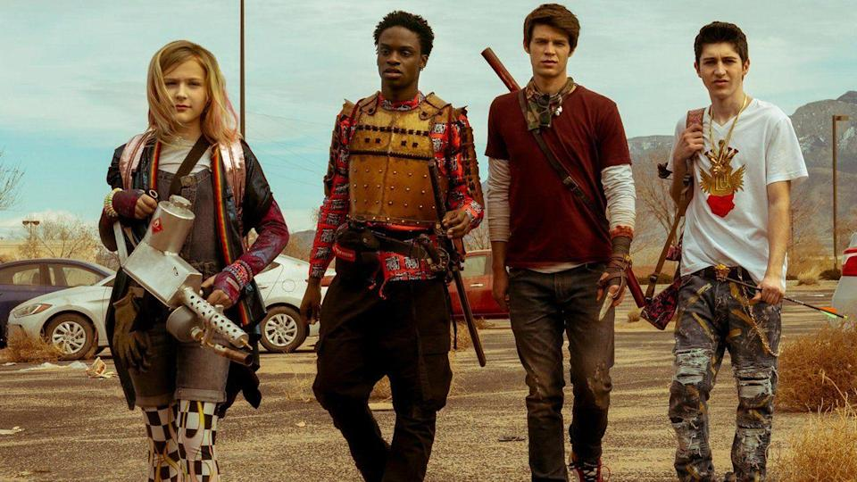 "<p>It's not actually a movie, <em>Daybreak</em> is a series for those looking for a Halloween binge-watch. Part-zombie thriller, part-teen comedy, it follows teenage outcast as he navigates a post-apocalyptic world full of <em><a href=""https://www.amazon.com/Mad-Max-Mel-Gibson/dp/B000IZ3OYQ?tag=syn-yahoo-20&ascsubtag=%5Bartid%7C10055.g.23570139%5Bsrc%7Cyahoo-us"" rel=""nofollow noopener"" target=""_blank"" data-ylk=""slk:Mad Max"" class=""link rapid-noclick-resp"">Mad Max</a></em>-style gangs. <em>Daybreak</em> debuts October 24. </p><p><a class=""link rapid-noclick-resp"" href=""https://www.netflix.com/title/80197462"" rel=""nofollow noopener"" target=""_blank"" data-ylk=""slk:MORE INFORMATION"">MORE INFORMATION</a><br></p>"