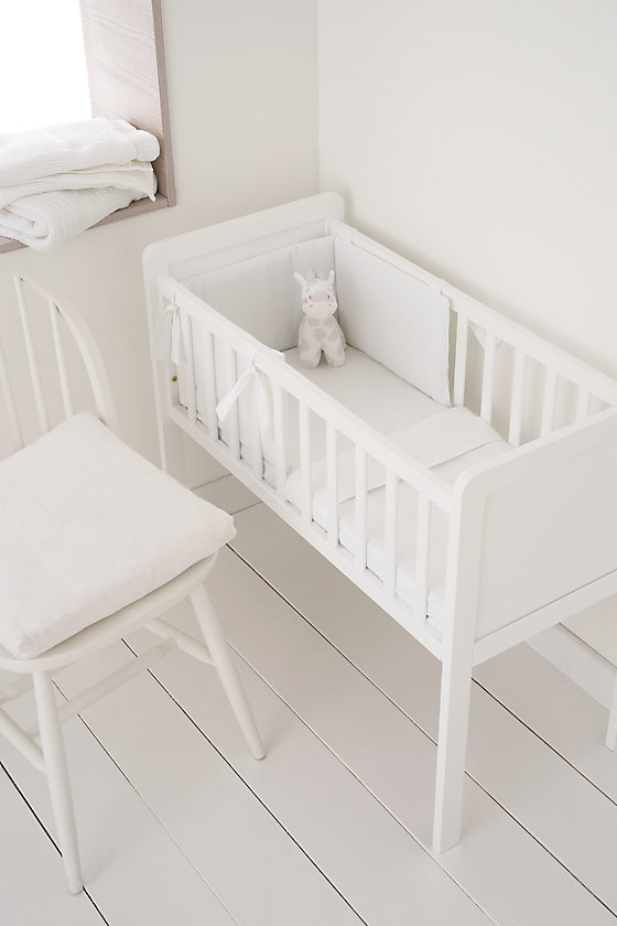 "<p><a class=""body-btn-link"" href=""https://www.mothercare.com/cribs-and-moses-baskets/mothercare-hyde-crib/914204.html"" target=""_blank"">BUY NOW</a> <em>£50, Mothercare</em></p><p>This beautiful white crib is essential for newborns. A classic and timeless design, it will provide comfort for your baby, ensuring they sleep comfortably throughout the night. </p><p><em><em>We earn a commission for products purchased through some links in this article.</em></em></p>"
