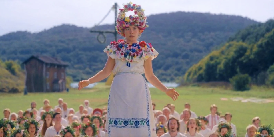 """<p><em><strong>Midsommar</strong></em></p><p>In the colorful and mind-blowing sleeper hit of last summer, a group of American students slowly find out that everything is not as it seems in the idyllic Swedish commune they are visiting.</p><p><a class=""""link rapid-noclick-resp"""" href=""""https://www.amazon.com/Midsommar-Florence-Pugh/dp/B07TFVD9BQ/?tag=syn-yahoo-20&ascsubtag=%5Bartid%7C10055.g.29120903%5Bsrc%7Cyahoo-us"""" rel=""""nofollow noopener"""" target=""""_blank"""" data-ylk=""""slk:WATCH NOW"""">WATCH NOW</a></p>"""