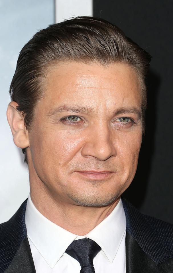 "HOLLYWOOD, CA - JANUARY 24: Actor Jeremy Renner attends the Premiere of Paramount Pictures' ""Hansel And Gretel Witch Hunters"" at the TCL Chinese Theatre on January 24, 2013 in Hollywood, California.  (Photo by Frederick M. Brown/Getty Images)"