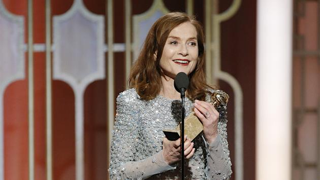 Isabelle Huppert Wins Golden Globe for Actress in a Drama for 'Elle'