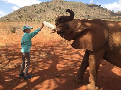 Protravel International made it possible for Skye, a 10-year-old girl with lymphoma, to travel last month to Nairobi to meet an elephant named Murit, which she has been sponsoring through the David Sheldrick Wildlife Trust for the past four years.