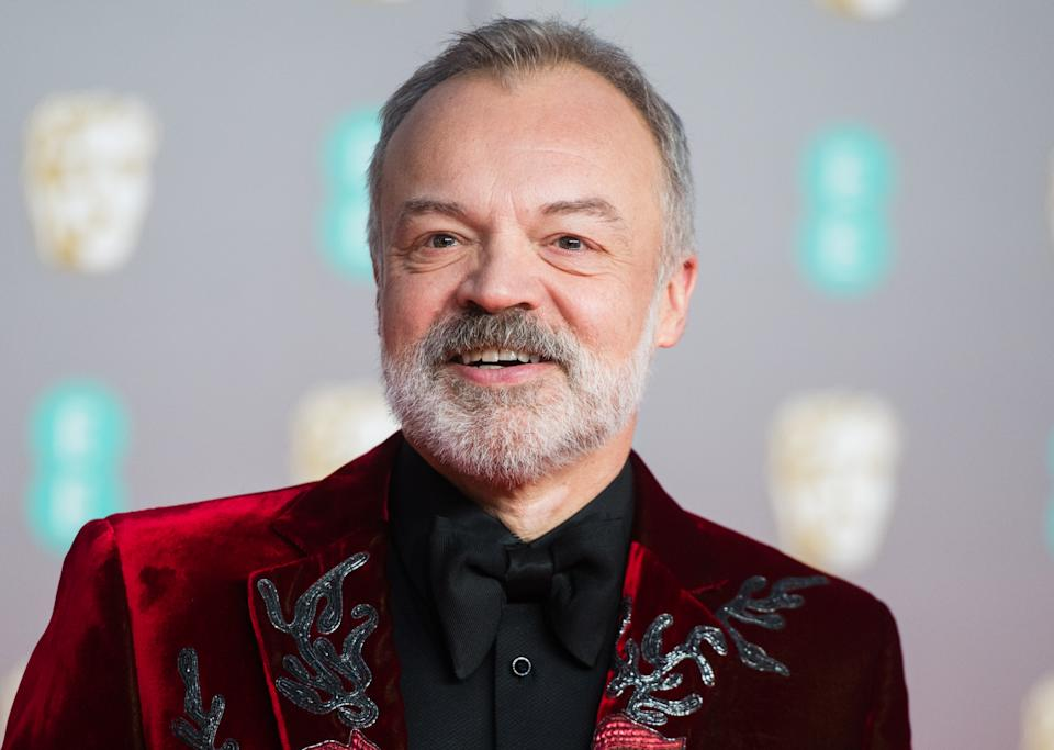 LONDON, ENGLAND - FEBRUARY 02: Graham Norton attends the EE British Academy Film Awards 2020 at Royal Albert Hall on February 02, 2020 in London, England. (Photo by Samir Hussein/WireImage)