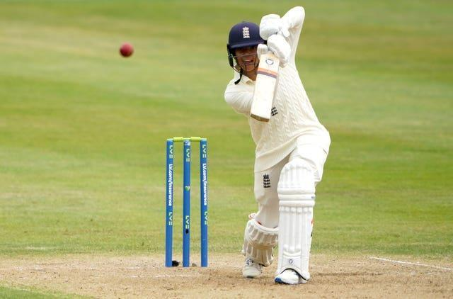 England's Sophia Dunkley scored an impressive 74 not out on Test match debut