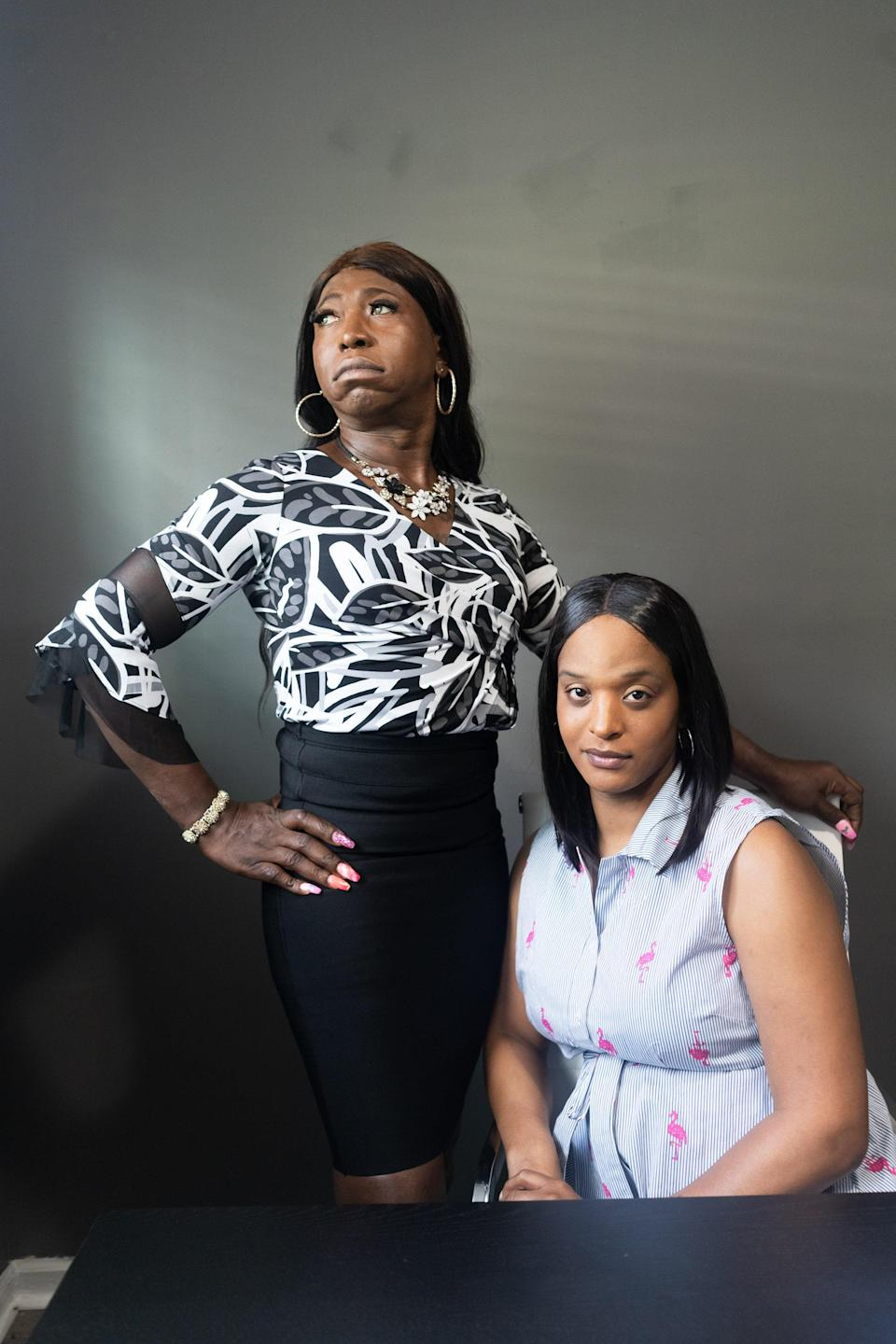 Pearl Styles (left), house mother, and Justine Ingram, program manager, for the Trans Hope House, a transitional-housing program established in collaboration with Trans Housing Atlanta Program and A Vision for Hope.