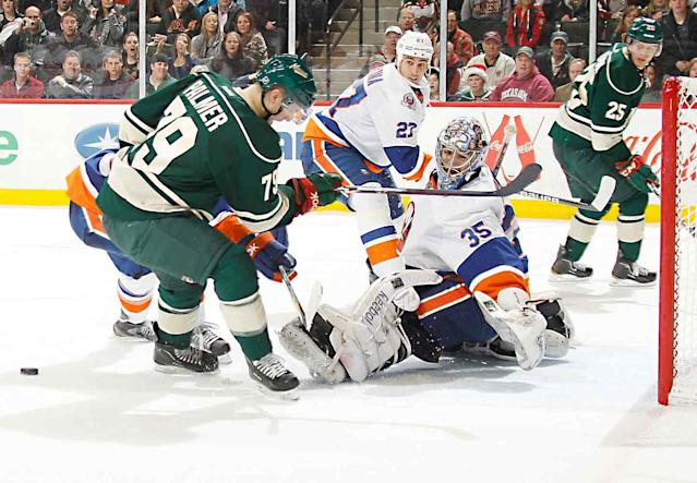 <p>A star forward at Miami of Ohio, Palmer was rated the top college free agent of 2010 by Red Line Report. Lingering injuries and a lack of finish conspired against him, limiting him to just six games and one goal in the NHL before he retired in 2013.</p>