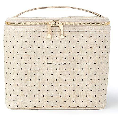"""<p><strong>Kate Spade New York</strong></p><p>amazon.com</p><p><strong>$29.93</strong></p><p><a href=""""https://www.amazon.com/dp/B01HP3K4PA?tag=syn-yahoo-20&ascsubtag=%5Bartid%7C10055.g.436%5Bsrc%7Cyahoo-us"""" rel=""""nofollow noopener"""" target=""""_blank"""" data-ylk=""""slk:Shop Now"""" class=""""link rapid-noclick-resp"""">Shop Now</a></p><p>Eating """"aldesko"""" is more stylish with a sweetly spotted insulated lunch bag. </p>"""