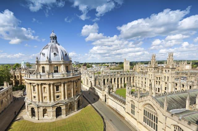 'The Radcliffe Camera and All Souls College in Oxford, UK'