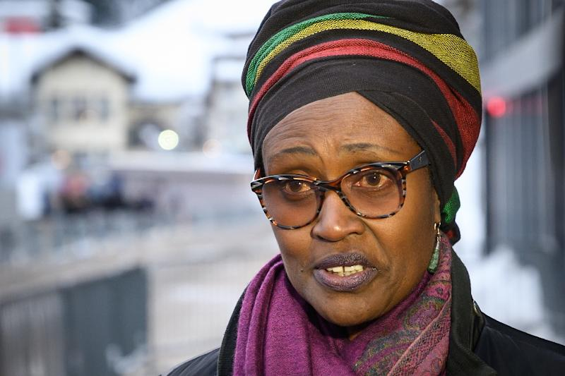 """Oxfam executive director Winnie Byanyima says that """"extreme inequality is out of control"""" (AFP Photo/Fabrice COFFRINI)"""