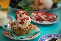 An ice cream version of chile en nogada, the 200-year-old iconic Mexican dish