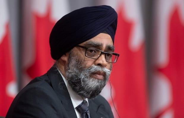 Minister of National Defence Harjit Sajjan takes part in a news conference in Ottawa. (Adrian Wyld/The Canadian Press - image credit)