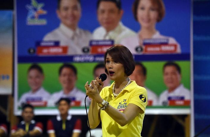 Geraldine Roman is proudly campaigning to be the first transgender lawmaker in the mainly Catholic Philippines (AFP Photo/Ted Aljibe)