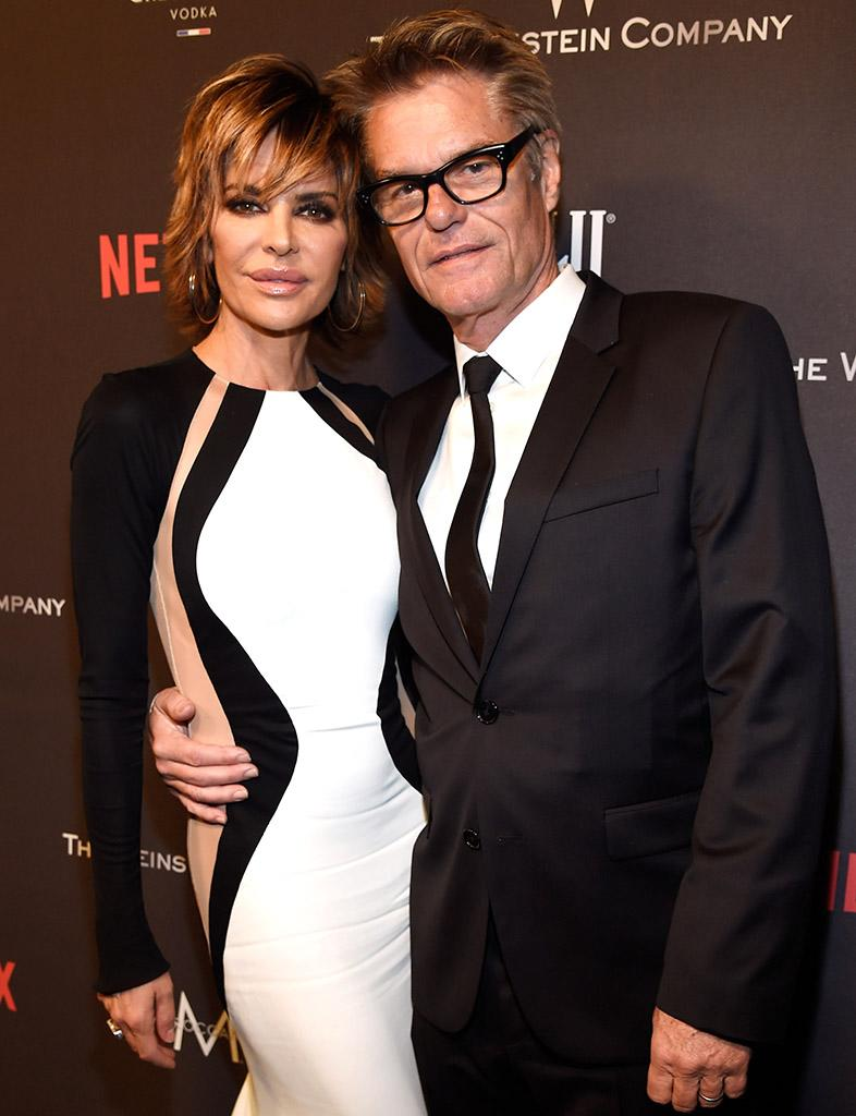 Lisa Rinna and Harry Hamlin, pictured here in January, are celebrating their 20th wedding anniversary. (Photo: Kevin Mazur/Getty Images for The Weinstein Company)