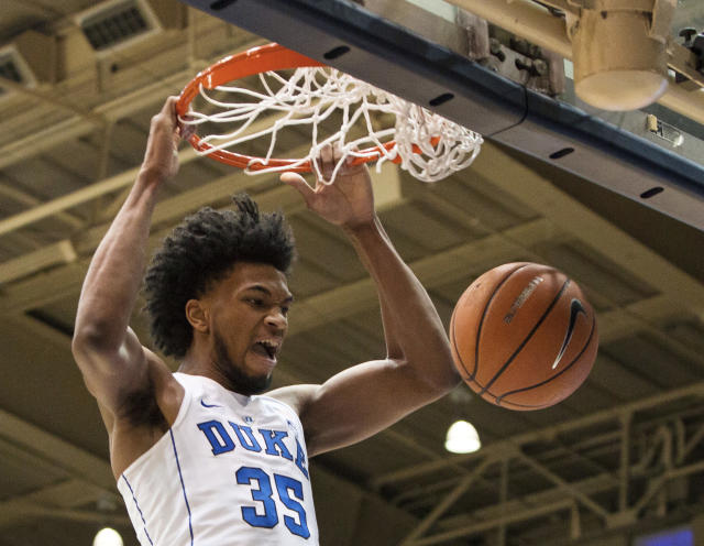 Duke's Marvin Bagley III is going to be a handful all over the floor in March. (AP)