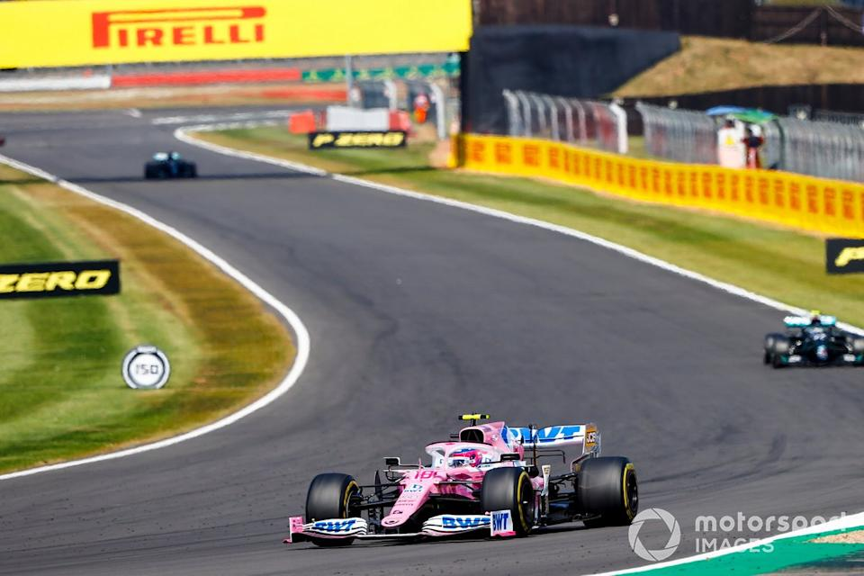 """Lance Stroll, Racing Point RP20, Valtteri Bottas, Mercedes F1 W11<span class=""""copyright"""">Andy Hone / Motorsport Images</span>"""