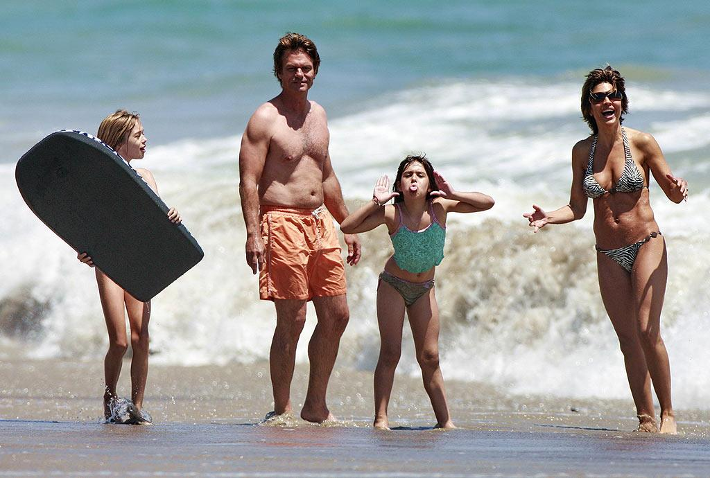 "Harry Hamlin, Lisa Rinna, and their two daughters Delilah and Amelia have some fun in the sun! <a href=""http://www.infdaily.com"" target=""new"">INFDaily.com</a> - June 29, 2008"