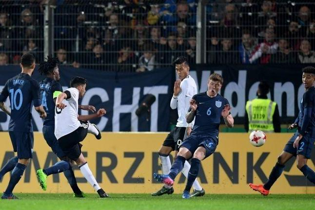 Amiri strikes for Germany in the first half: Bongarts/Getty Images