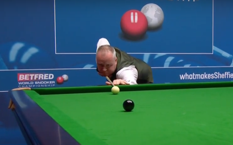 Higgins struck the 11th Crucible maximum of all time in his second round match against Kurt Maflin