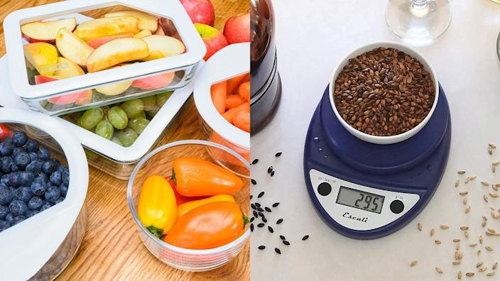 Best health and fitness gifts 2020: Pyrex Ultimate storage containters and Escali Primo kitchen scale