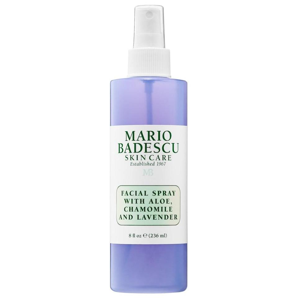 <p>Give yourself a midday spritz of the <span>Mario Badescu Facial Spray with Aloe, Chamomile and Lavender</span> ($12) for some hydration and aromatherapy.</p>