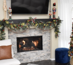 """<p>Cheap store-bought garland often looks sparse, but you can breathe much-needed life into the strand with a little extra greenery and other natural elements, like pinecones and berries. </p><p><a href=""""https://www.dreamalittlebigger.com/post/diy-christmas-garland.html"""" rel=""""nofollow noopener"""" target=""""_blank"""" data-ylk=""""slk:Get the tutorial"""" class=""""link rapid-noclick-resp"""">Get the tutorial</a>.</p><p><a class=""""link rapid-noclick-resp"""" href=""""https://www.amazon.com/CCINEE-Artificial-Christmas-Decorative-Decorations/dp/B07VB2MW4M/?tag=syn-yahoo-20&ascsubtag=%5Bartid%7C10072.g.37499128%5Bsrc%7Cyahoo-us"""" rel=""""nofollow noopener"""" target=""""_blank"""" data-ylk=""""slk:SHOP GARLAND"""">SHOP GARLAND</a></p>"""