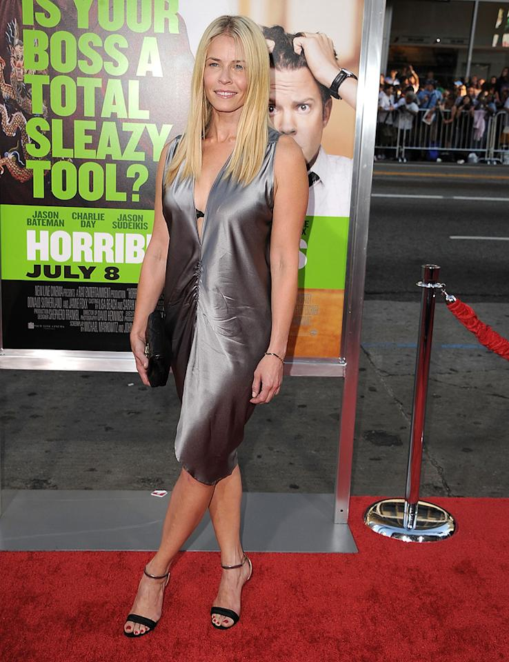 """<a href=""""http://movies.yahoo.com/movie/contributor/1809842398"""">Chelsea Handler</a> at the Los Angeles premiere of <a href=""""http://movies.yahoo.com/movie/1810161382/info"""">Horrible Bosses</a> on June 30, 2011."""