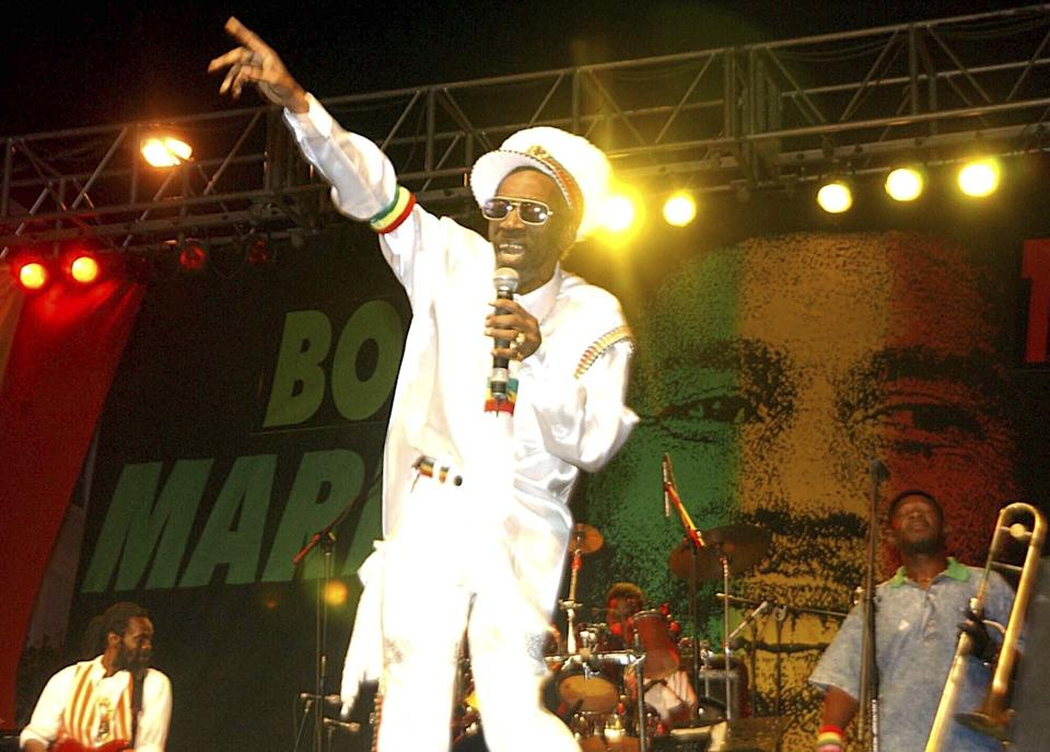 Bunny Wailer performing in 2005 at a tribute concert on what would have been Bob Marley's 60th birthday (Photo: Collin Reid/AP/Shutterstock)