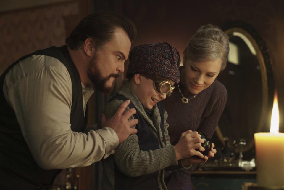Jack and Cate play warlock and witch in this children's film based on the novel of the same name