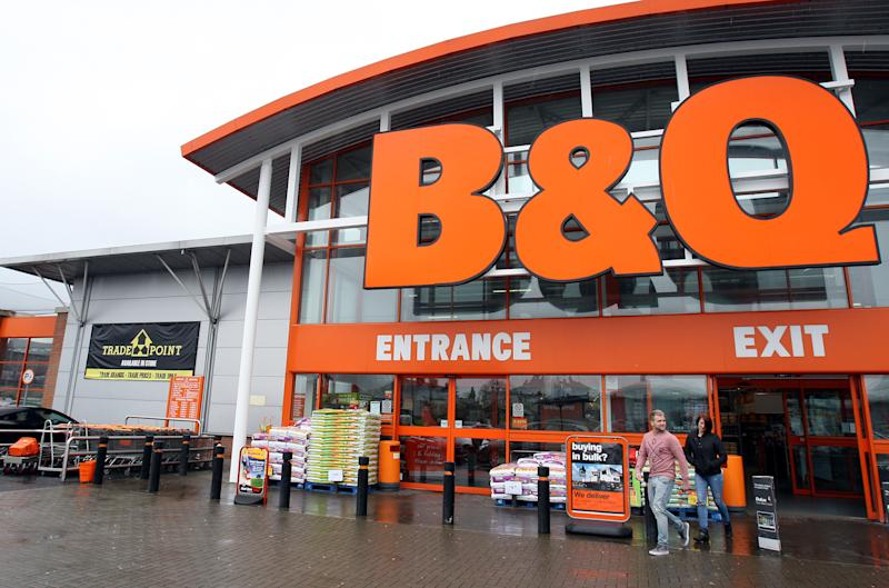 B&Q closed shops over the coronavirus but stores may re-open. (PA)
