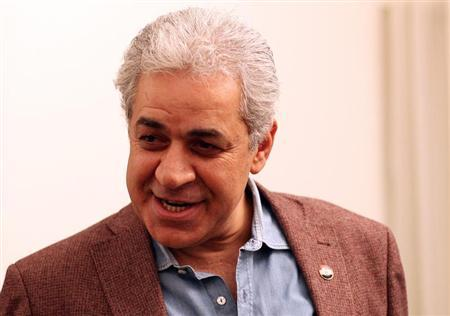 Leftist leader Hamdeen Sabahi speaks during an interview with Reuters