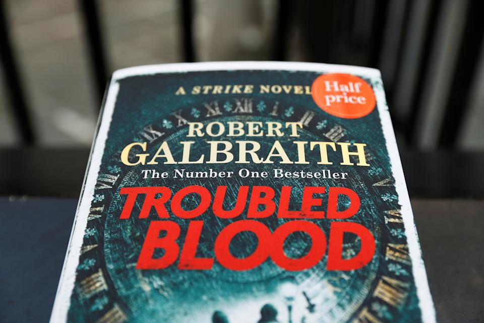 J.K. Rowling's latest book, Troubled Blood, written under pseudonym Robert Galbraith, is pictured outside of a bookstore in London. Its plot, about a cross-dressing serial killer, is sparking backlash. (Photo: REUTERS/Peter Nicholls)