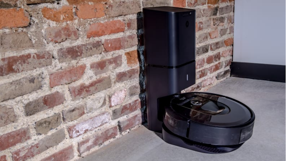 The Roomba i7+ is the ultimate hands-off robot vacuum, because of its docking station where it will self-dispose of trash so that you won't need to empty it yourself before it goes back to cleaning.