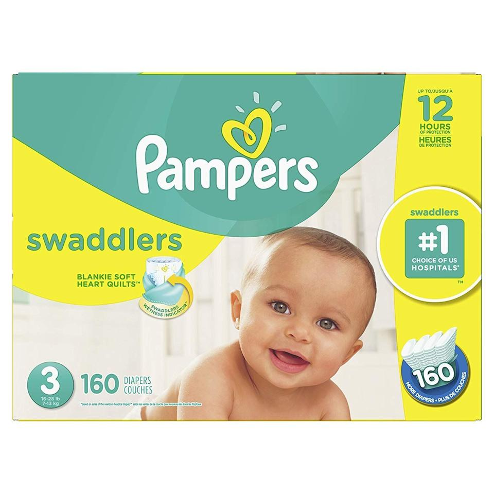 Pampers Diapers Size 3, Swaddlers Disposable Baby Diapers.