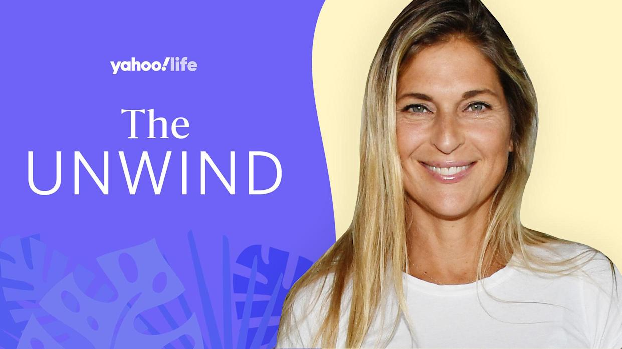 Gabby Reece on mental health, marriage and staying fit. (Photo: Getty; designed by Quinn Lemmers)