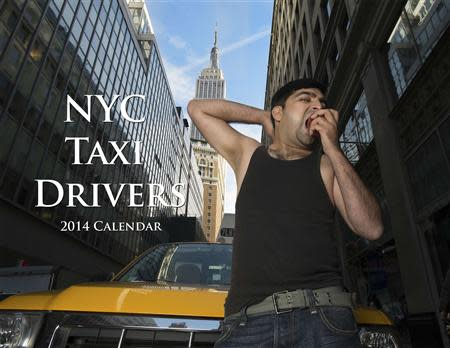 A taxi driver named Yasar poses for the NYC Taxi Drivers 2014 Calendar