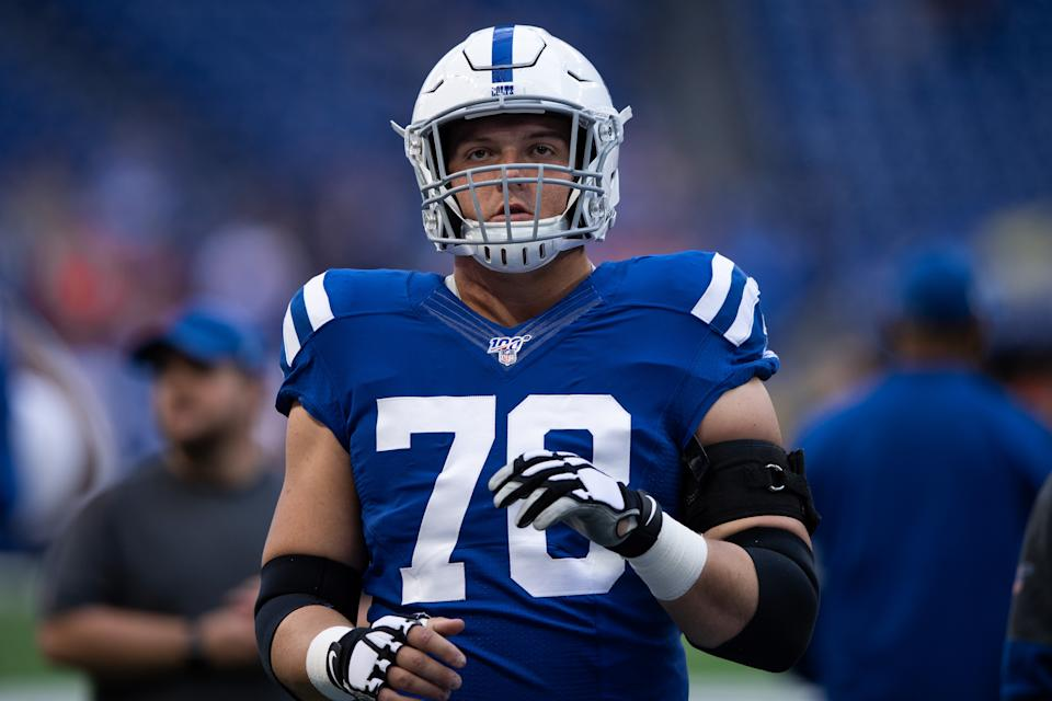 Indianapolis Colts center Ryan Kelly is now the highest-paid center in the NFL. (Zach Bolinger/Icon Sportswire/Getty Images)