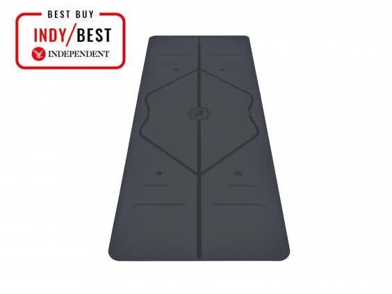 The surface of this mat is really grippy, even in the most intense hot yoga class (The Independent)