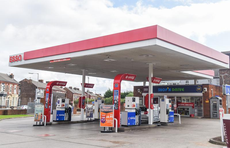 MERCURY PRESS - (PICTURED: The Esso petrol station in Anfield where Liverpool star Mo Salah defended a homeless man after his team's 3-1 win against Arsenal on September 28