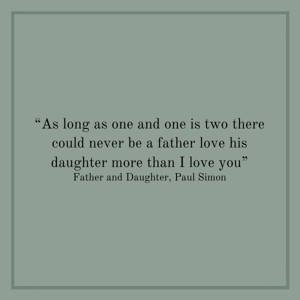 Songs About Dads: Father and Daughter