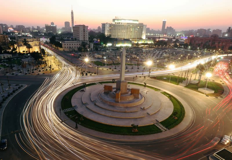 Tahrir Square, after its renovation, following the outbreak of the coronavirus disease (COVID-19), in Cairo